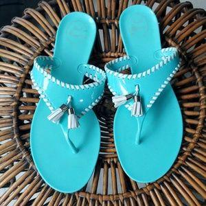 Jack Rogers Turquoise Jellies